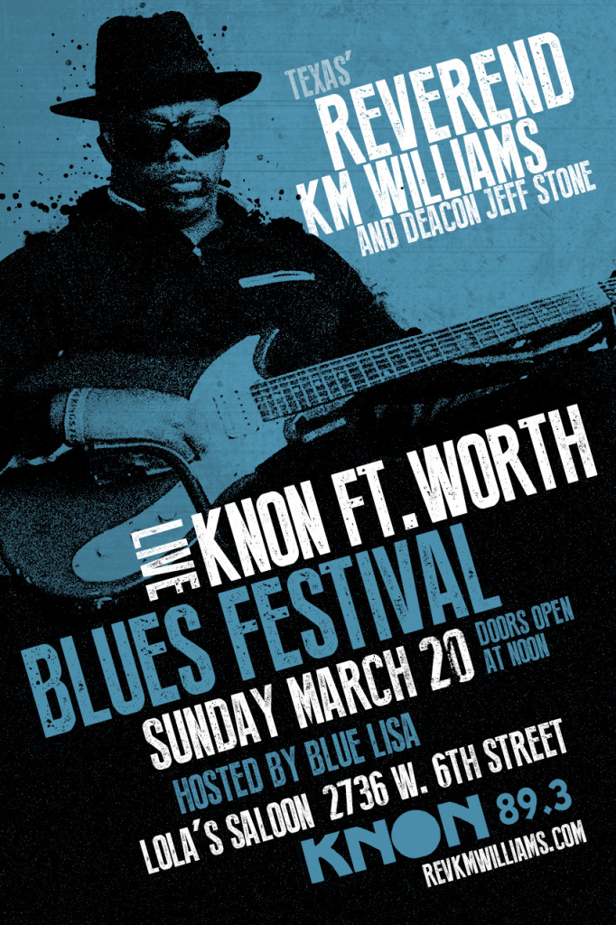 Reverend KM Williams and Deacon Jeff Stone at KNON's FtW Blues Fest