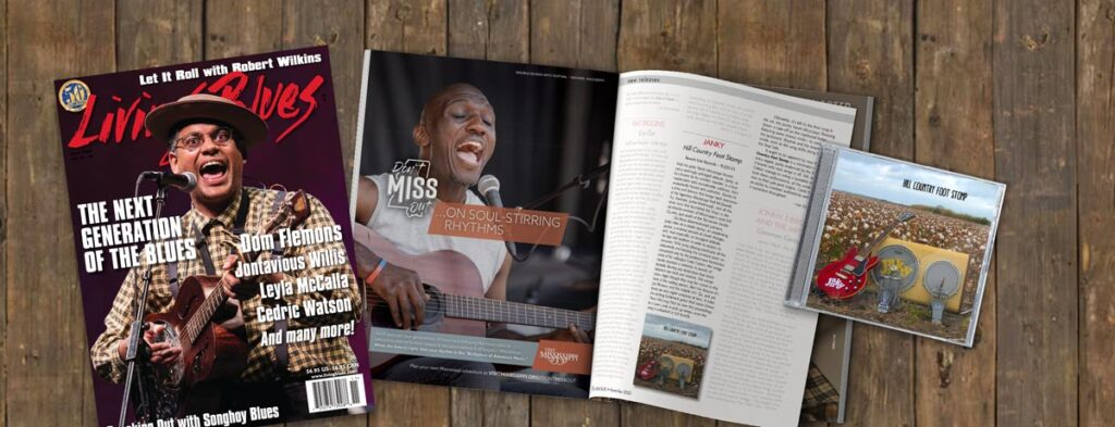 Janky in Living Blues Magazine